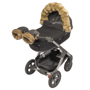 Tinkafu vognvotter til barnevogn i fargen brun og svart